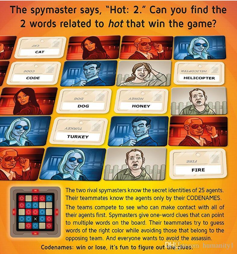 Board games Codenames Party Game Funny Games For Adults Social Word Game a Simple Premise And Challenging Playing Card Game poker