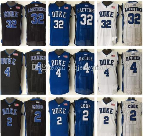 650fc5dda54 2019 Duke Blue Devils Jersey#2 Quinn Cook # 4 JJ Redick #32 Christian  Laettner Jersey College Basketball Jerseys Stitched From Topjerseymarket,  ...