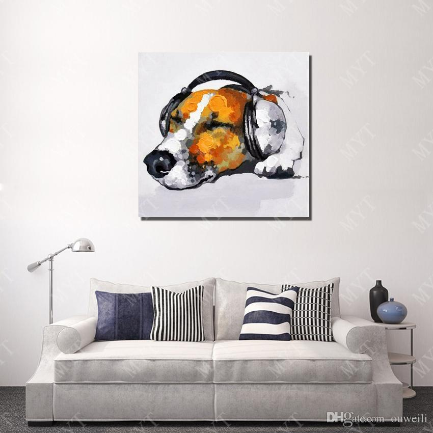 2016 Promotional Items Cheap Price Wholesale Canvas Oil Painting Reproduction Copy From Picture Hand Painted Dog Oil Painting