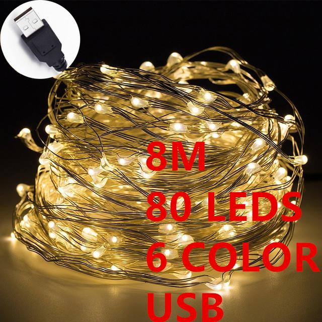 Wholesale 80led 8m led christmas lights outdoor 100 waterproof usb wholesale 80led 8m led christmas lights outdoor 100 waterproof usb christmas fairy strip lights copper wire led starry string paper lantern string lights aloadofball Gallery