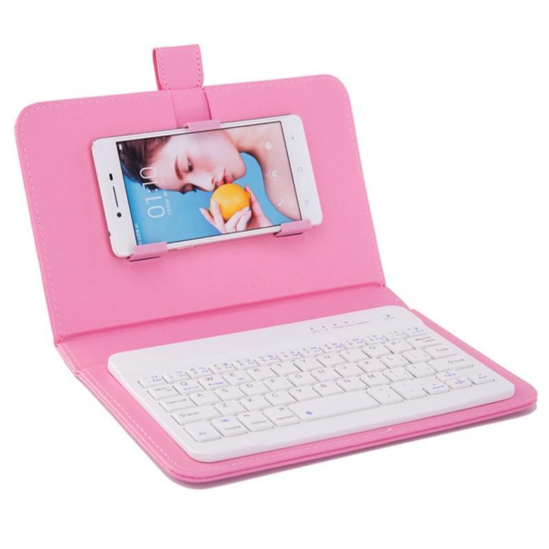 Bluetooth Keyboard Telefone caso de couro caso do iPhone 6 6S para com teclado sem fio para Lenovo Samsung Huawei Xiaomi ZTE Sony HTC