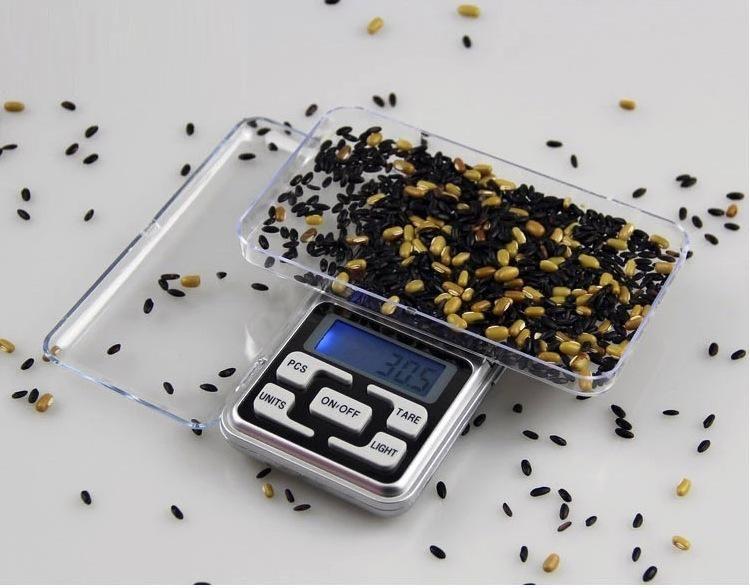 الموازين الرقمية الرقمية مقياس مجوهرات الذهب والفضة عملة الحبوب غرام حجم الجيب عشب مصغرة الخلفية الإلكترونية 100 جرام 200 جرام 500 جرام سريع ش