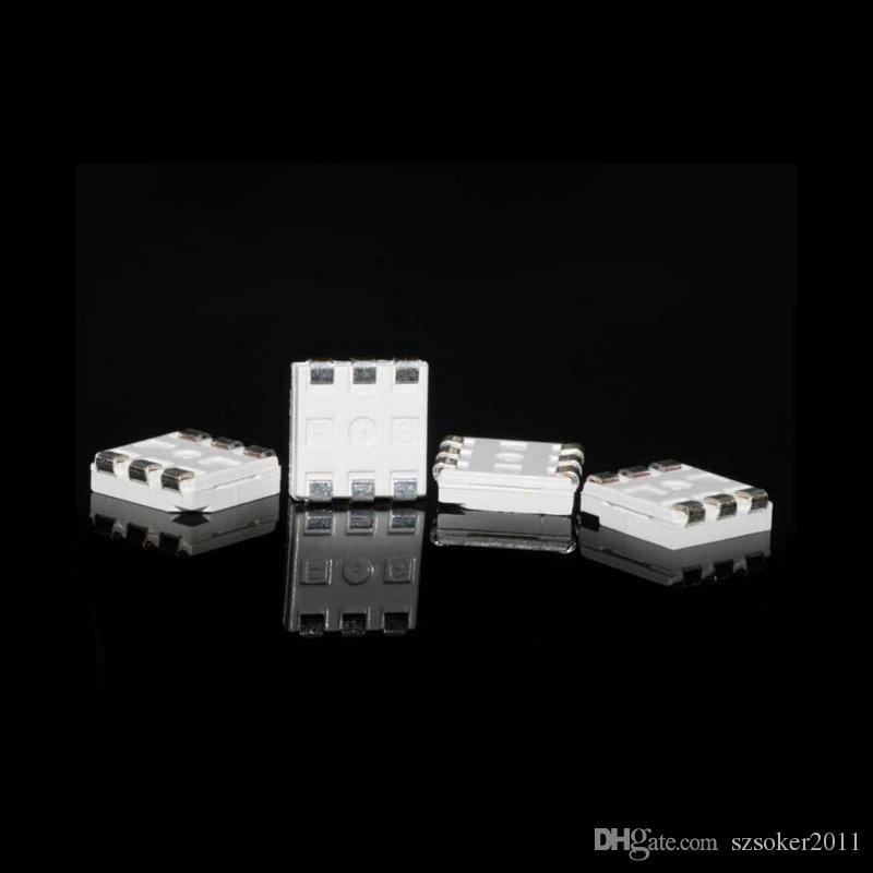 화이트 레드 블루 그린 옐로우 PLCC-6 5050 SMD 3-CHIPS LED 램프 LED 초경량 SMD 5050 SMD LED 무료 배송