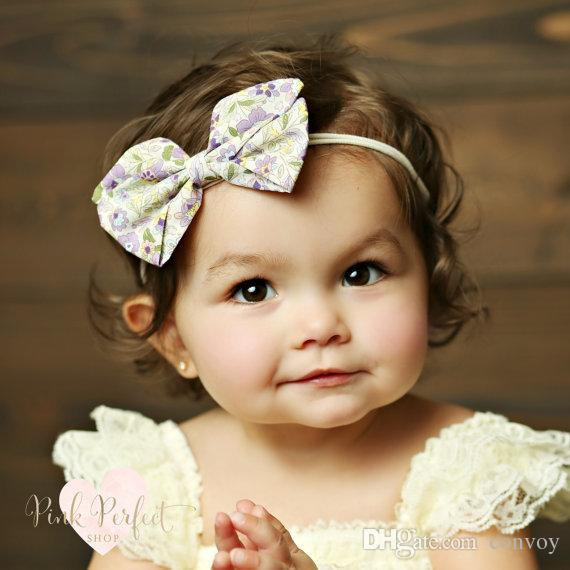 15 Girls Children Bow Headbands Baby Polka Dot Striped Bowknot Headband  Fashion Floral Hair Accessories Elastic Hairbands 8 Types KHA444 Ribbon  Hair ... 6c089f3c6be