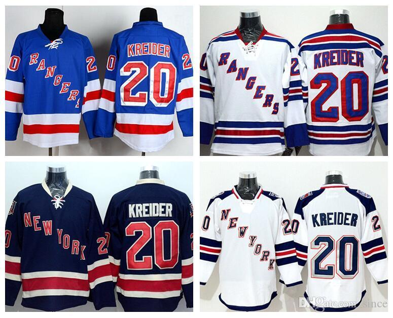 ce04a261e07 2019 2016 NEW MENS 20 CHRIS KREIDER CHEAP HIGH QUALITY 2015 NEW YORK RANGERS  WHITE BLACK BLUE 100% STITCHED NY RANGERS HOCKEY JERSEYS From Since, ...
