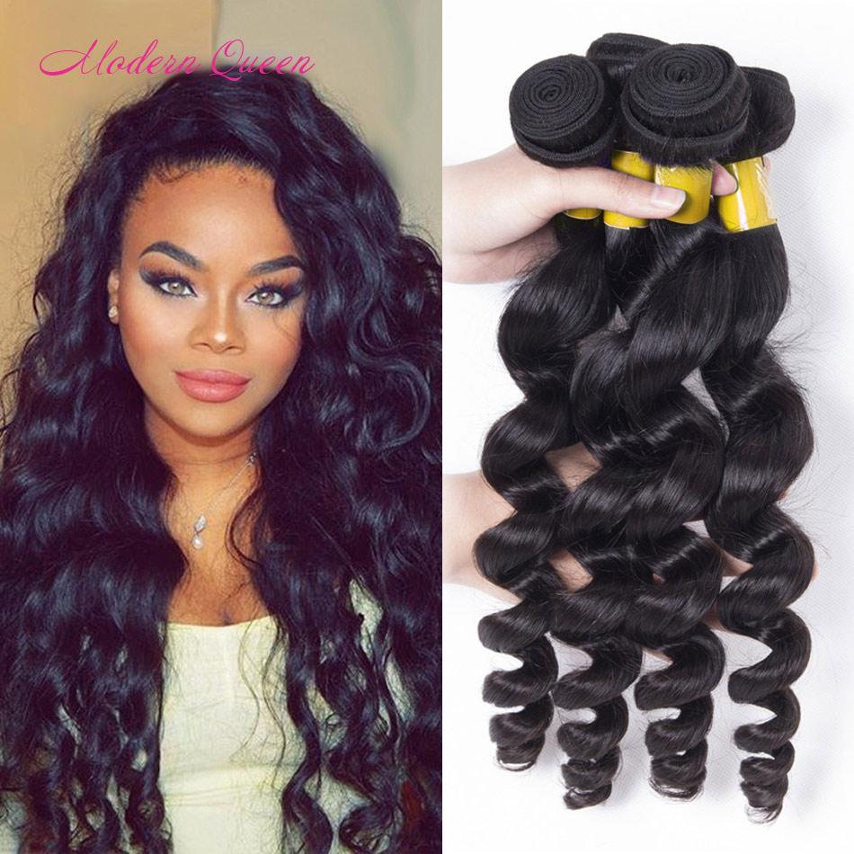 8a Grade Raw Indian Loose Wave Human Hair Bundles Indian Loose Curl