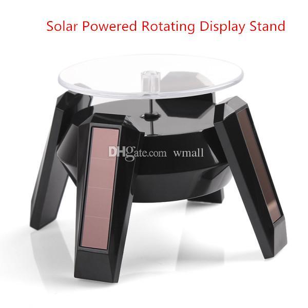 Solaire rotatif à affichage solaire tournant table plate-forme de table tournante de table pour montres bracelet de téléphone portable caméra affichage