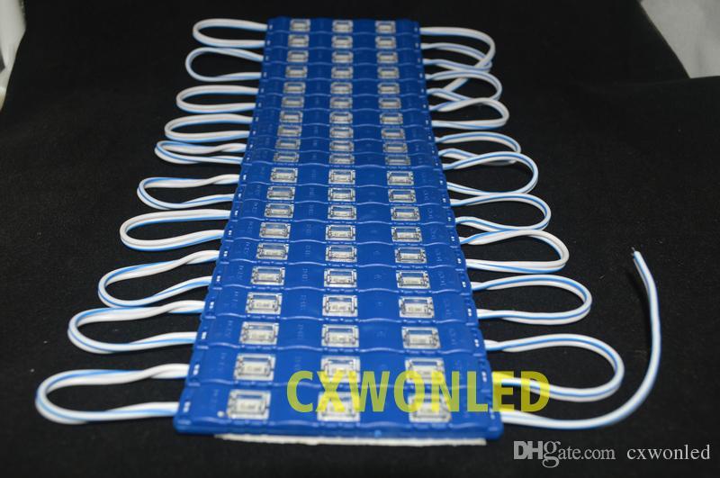 Kanal Mektupları Backlighting Led Modülleri Işıklar Açık Billboard için 5630 3Leds 1.2W Enjeksiyon Led Modülleri ile Kapak Mercek 12V su geçirmez