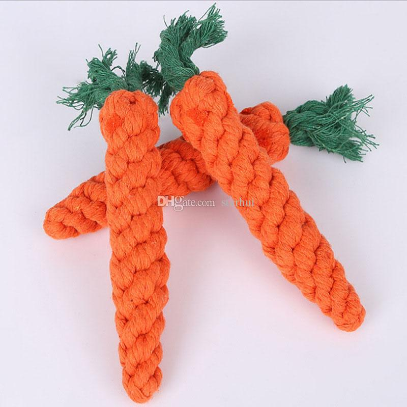2017 Carrot Dog Toys Cat Pet Cotton Imitate Braided Weaved Bone Rope Knot Toy Pet Teeth Resistant to bite Toys WX-G20