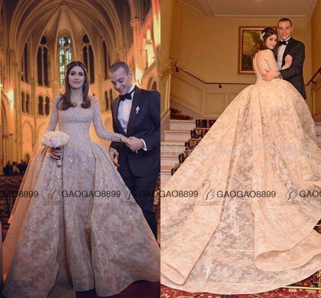 Großhandel Elie Saab Champagner Hochzeits Kleid 2016 Luxus ...