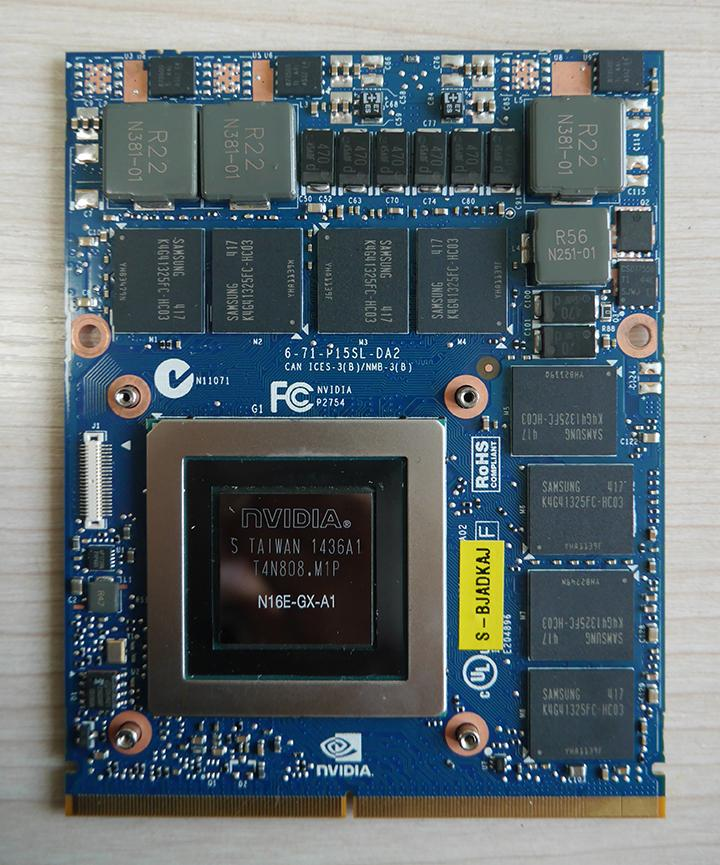 Freeshipping N16E-GX-A1 nVidia GTX980M 8G MXM SLI N16E-GX-A1 video card for  Dell Alienware 18 M18X R2 R3 R4 notebook/laptop
