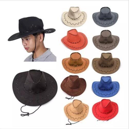 40fce17cad5036 2019 Western Cowboy Hats Men Brim Caps Retro Sun Visor Knight Hat Unisex  Cowgirl Brim Hats Mongolia Prairie Summer Outdoor Tourism Headwear B2863  From ...