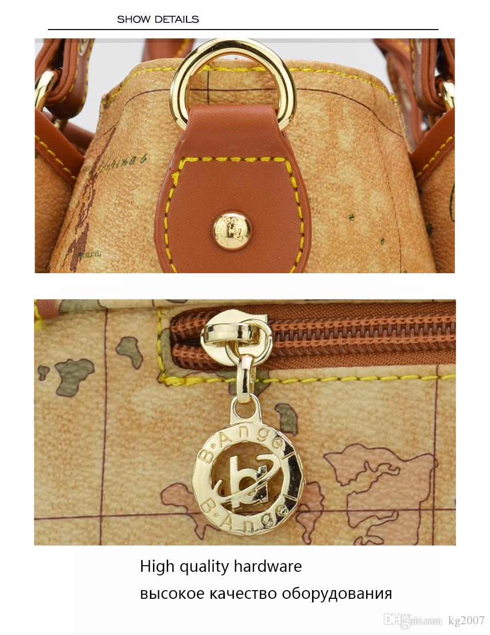 High quality world map women bag fashion women messenger bags High capacity Handbag brand bags design tote bag HC-Z-952