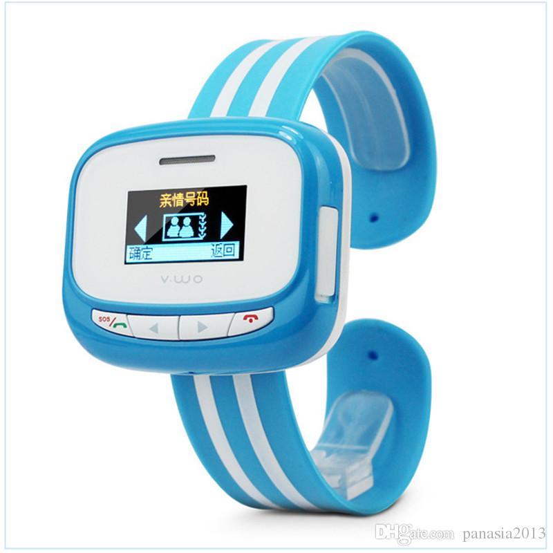 Nuovo arrivo Bambini Wrist Band Smart Watch Phone Smart Phone Bracciale Call Watch Posizionamento GPS Boy Child Gifted Students SOS