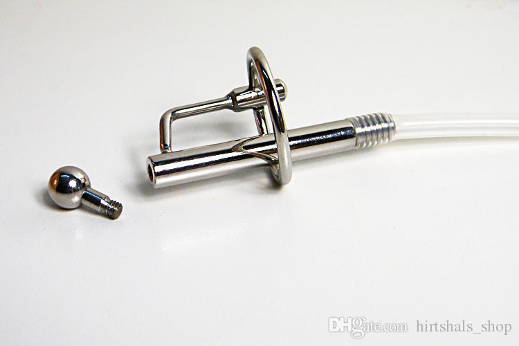 Uretra de aço inoxidável masculina da sujeição Fetish de aço inoxidável de Transparen BDSM da dilatação da castidade do TUBO