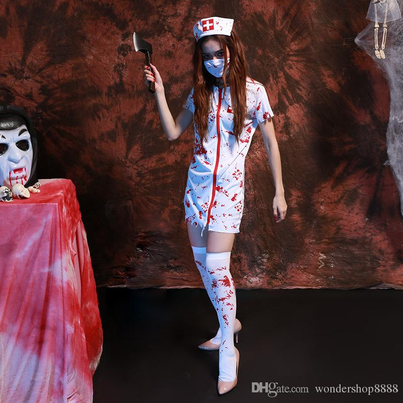 Classic Trendy Halloween Costumes Women Games Role Play Horror ...