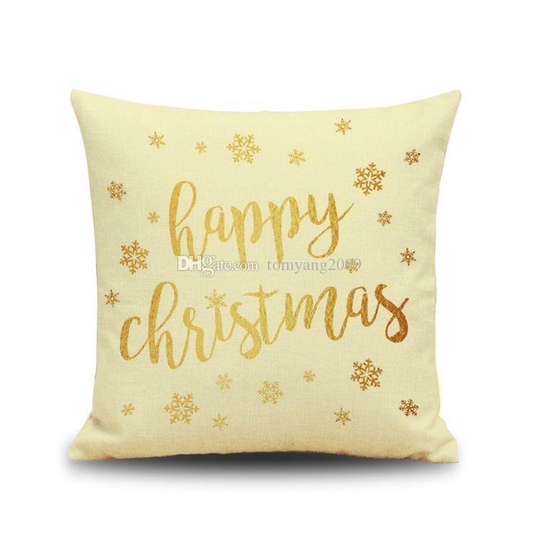 2016 Feliz Natal Estilo Fronha de Presente de Ano Novo de Natal de Rena Letra Almofadas Sofá Almofada Do Carro Travesseiro Cobre