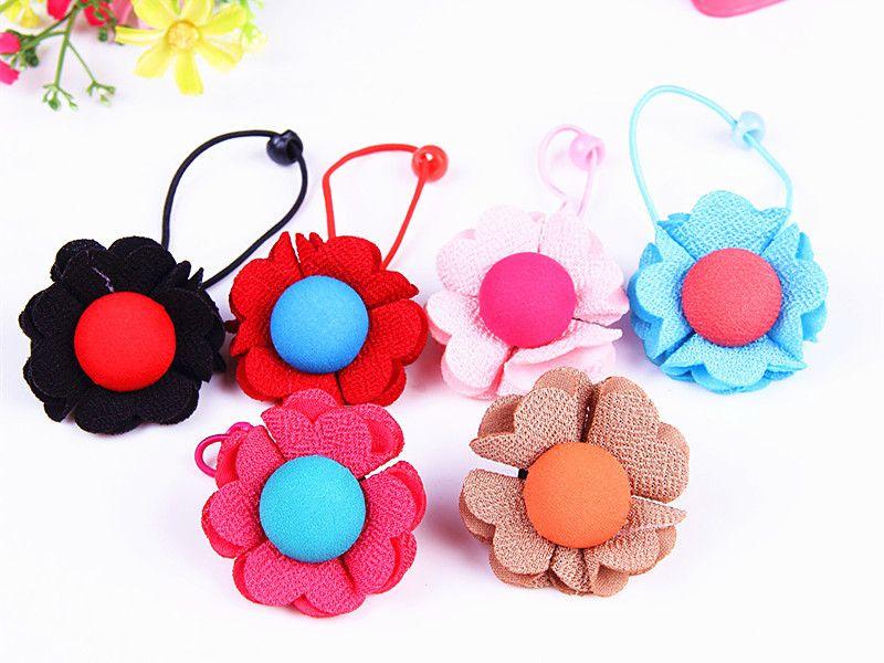 new korean children s hair accessories baby flower buttons