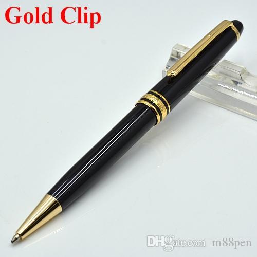 Di alta qualità Meisterstok 163 resina nera penna a sfera scuola cancelleria di lusso monte scrittura refill penne regalo di affari