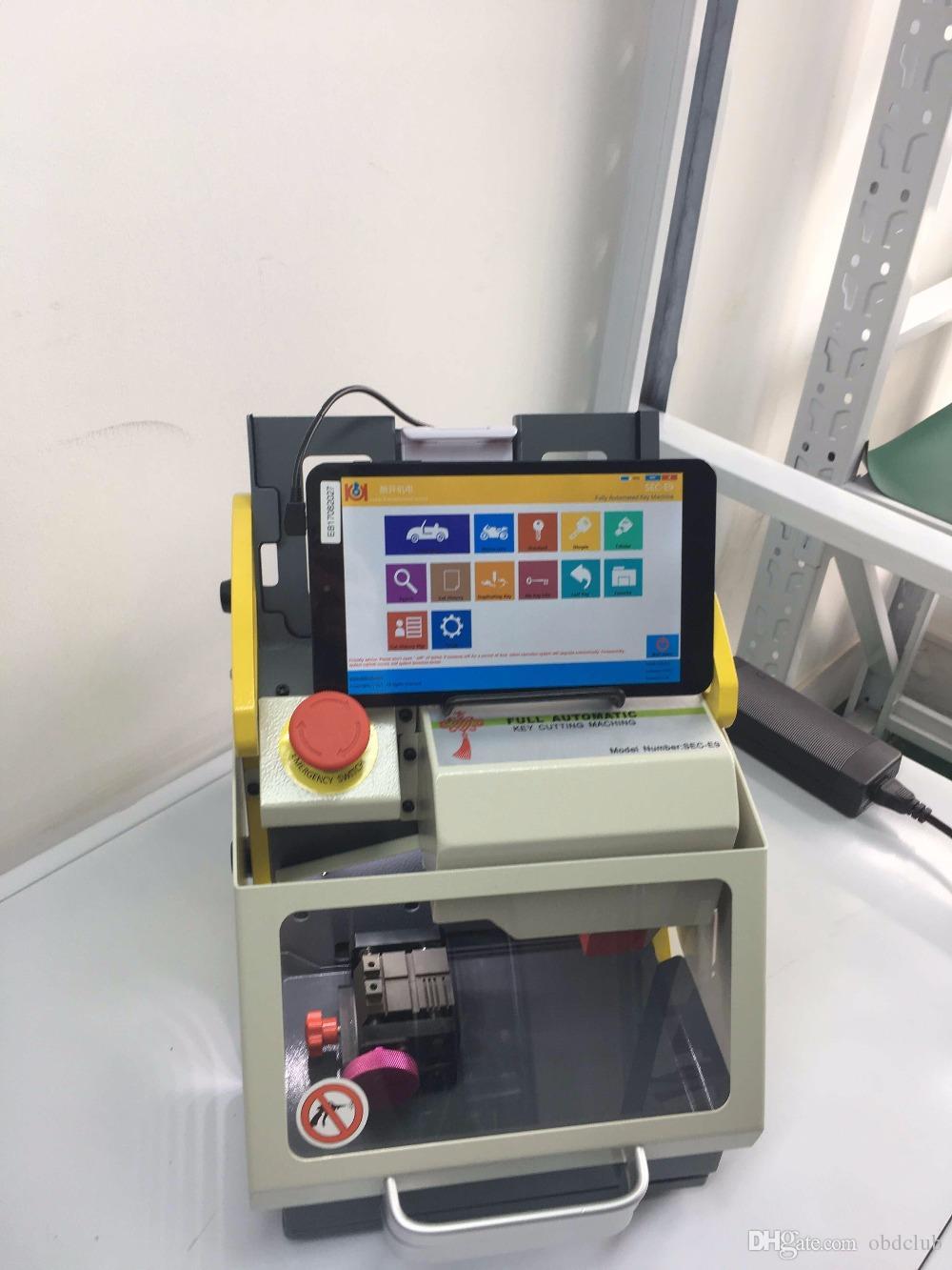 Tüm arabalar için 2018 Tam Otomatik SEC-E9 Anahtar Kesme Makinesi Otomatik Anahtar Programcı / wenxing SEC-E9 anahtar kesme makinesi silca / anahtar makinesi