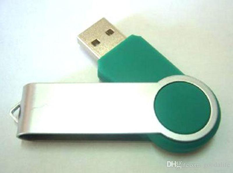 10 조각 4GB 8GB 금속 소용돌이 용량 충분 한 U 디스크 USB2.0 플래시 디스크 금속 Rotatable USB 플래시 드라이브