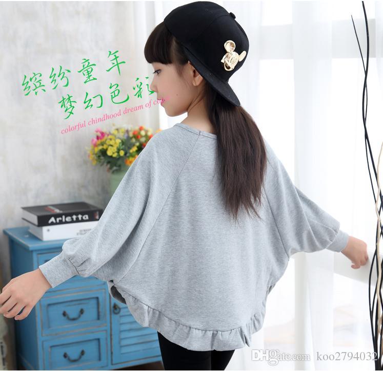 2016 새로운 도착 키즈 Clothings 어린이 탑스 티셔츠 소녀 티셔츠 최고 품질 귀여운 Clothings 아기 인쇄 된 꽃 패션 뜨거운 판매