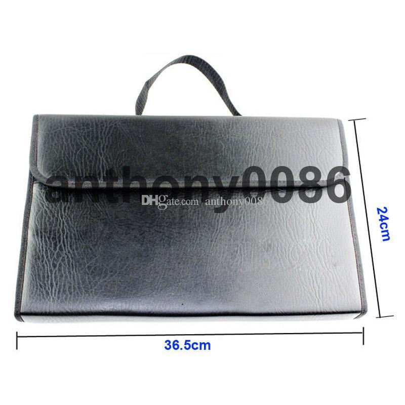 sac de vitrine de ciseaux de cheveux en cuir noir grand pour 30 outils de coiffeur de ciseaux 36,5 * 24 * 4,5 cm