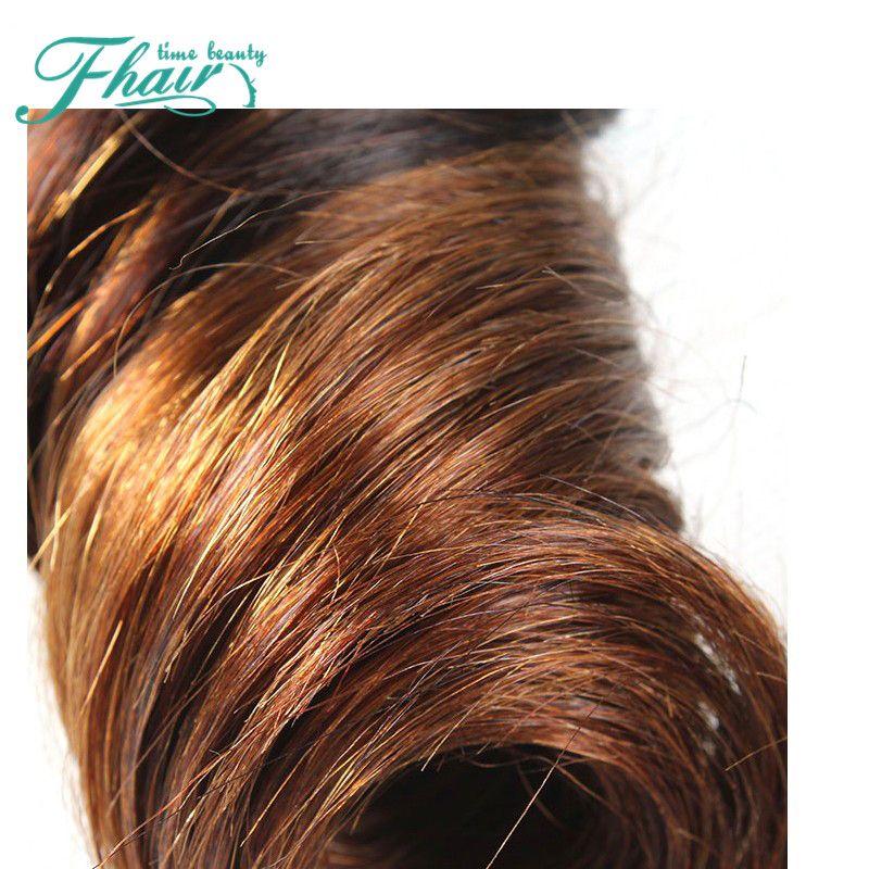 Ombre Hair Extensions 7A Grade Brazilian Aunty Funmi Hair 1B/4 Brazilian Bouncy Curly Weave Unprocessed Human Hair