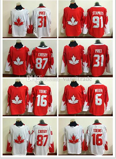 best loved 9bcbb 338d5 2016 World Cup Team Olympic Hockey Jerseys #87 Crosby #16 jonathan toews  #31 Carey Price #91 Steven Stamkos High Quality Hockey jerseys Mix