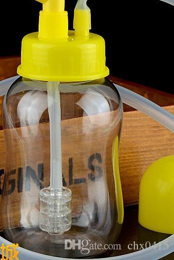 2018 The New Medium Transparent Bottle Hookah Glass Bongs Glass