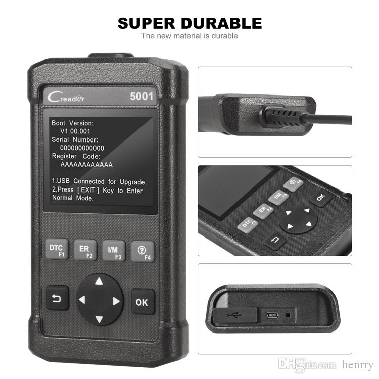 Original Launch Creader 5001 CR5001 OBD2 Scanner Super Durable Ultra Portable DIY OBD 5001 Code Read