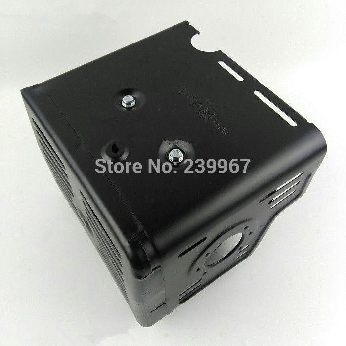 La cubierta del silenciador estilo A se ajusta a Honda GX340 GX390 GX420 389CC envío gratis 420CC 13HP conjunto de escudo de bomba de agua piezas de riel