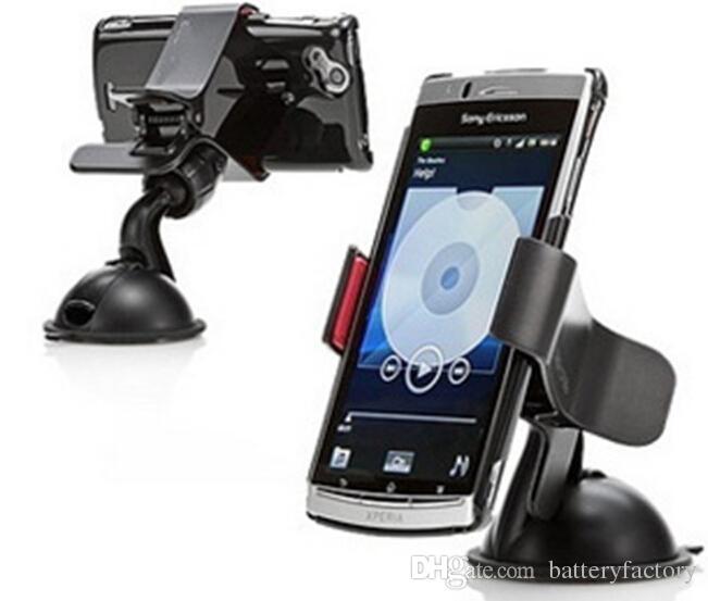 Бесплатная доставка, 30 шт. Универсальный мобильный телефон автомобильный держатель лобовое стекло рабочего стола кронштейн держатели для сотового телефона смартфон Samsung iPhone 2 цвета