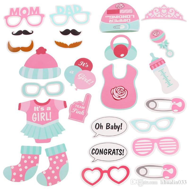 Baby Shower Favors Photo Booth Props Its a Boy Girl Fun Photobooth 1st Birthday Party Decoration Blue Pink