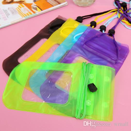 23 * 12CM Kleinpaket-beweglicher wasserdichter Beutel PVC-schützende Handy-Beutel-Beutelkasten für das Tauchen Schwimmen Sport geben DHL frei