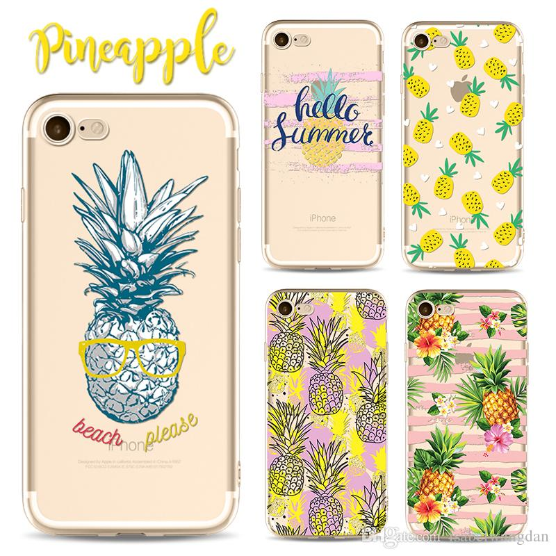 quality design c590d 100bb 2017 New Pineapple Case For iphone X 8 7 6 6s plus 5 5s 5c SE TPU Christmas  For samung note 8 s8 plus anti-drop cell phone cases protector