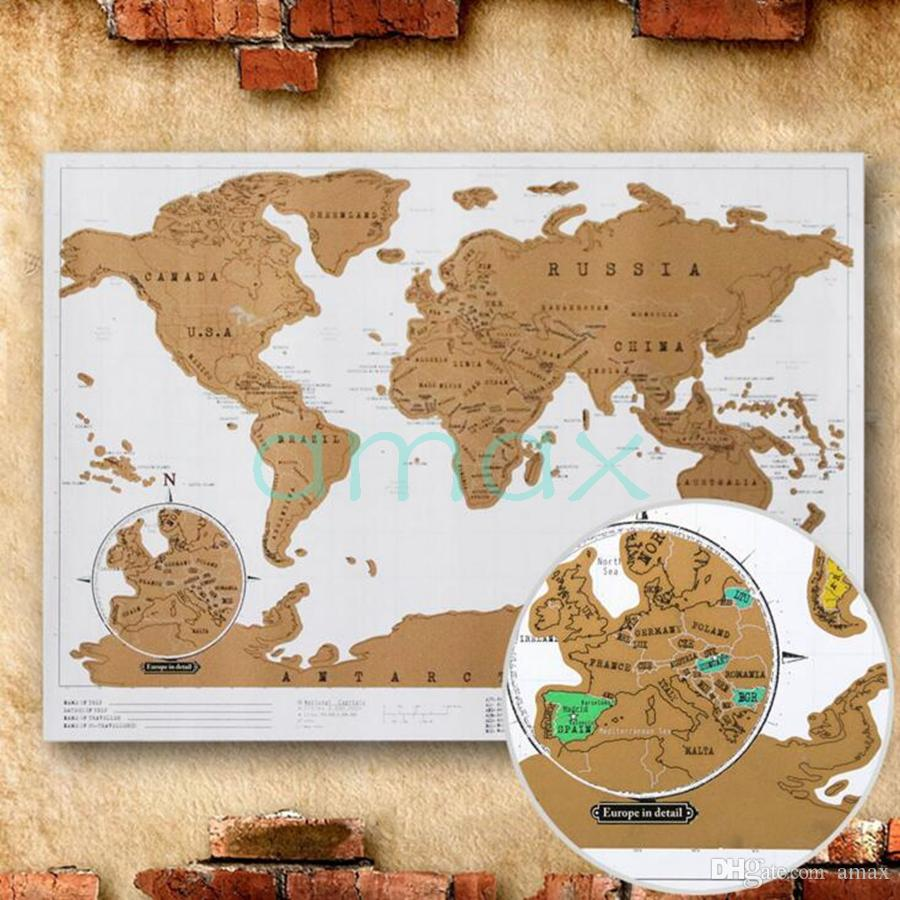 2018 deluxe scratch map scratch world map 8852cm dhl fedex free 2018 deluxe scratch map scratch world map 8852cm dhl fedex free travel scratch gift business style wall stickers learning toys colorful from amax gumiabroncs Gallery