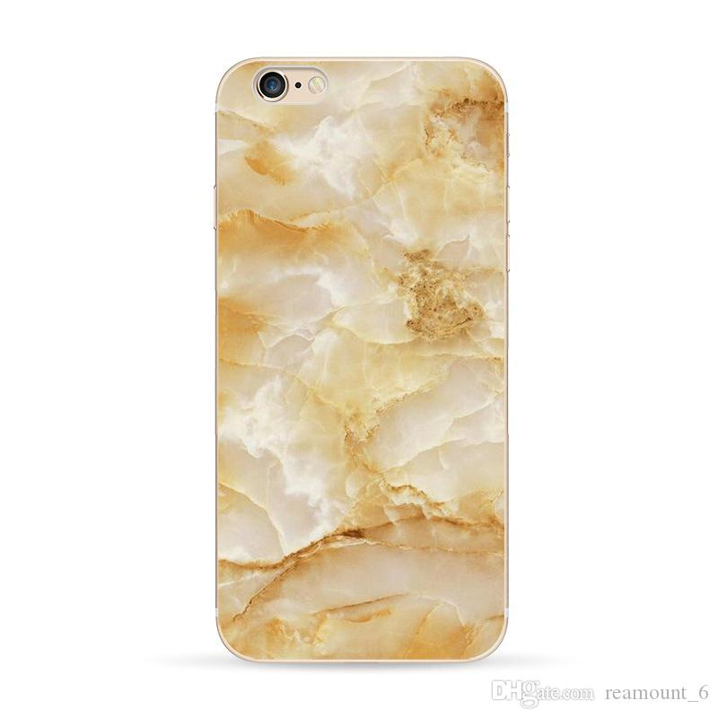 Marble Pattern Phone Case Soft TPU Clear Case for iPhone 7 Plus Personalize Phone Protector for iPhone 6