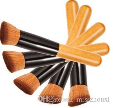 Multi-Function Pro Makeup Brushes Powder Concealer Blush Liquid Foundation Make up Brush Set Wooden Kabuki Brush Cosmetics