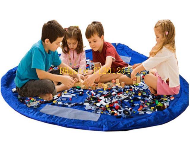 Freies Verschiffen 150 cm / 100 cm / 45 cm Tragbare Kinder Kinder Infant Babyspielmatte Große Aufbewahrungsbeutel Spielzeug Veranstalter Decke Teppich Boxen