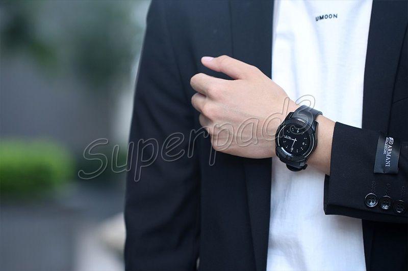 스마트 시계 V8 아이폰 7 갤럭시 노트 7 IOS 안드로이드 폰 시계 SIM TF 카드 슬롯 카메라 블루투스 시계 PK DZ09