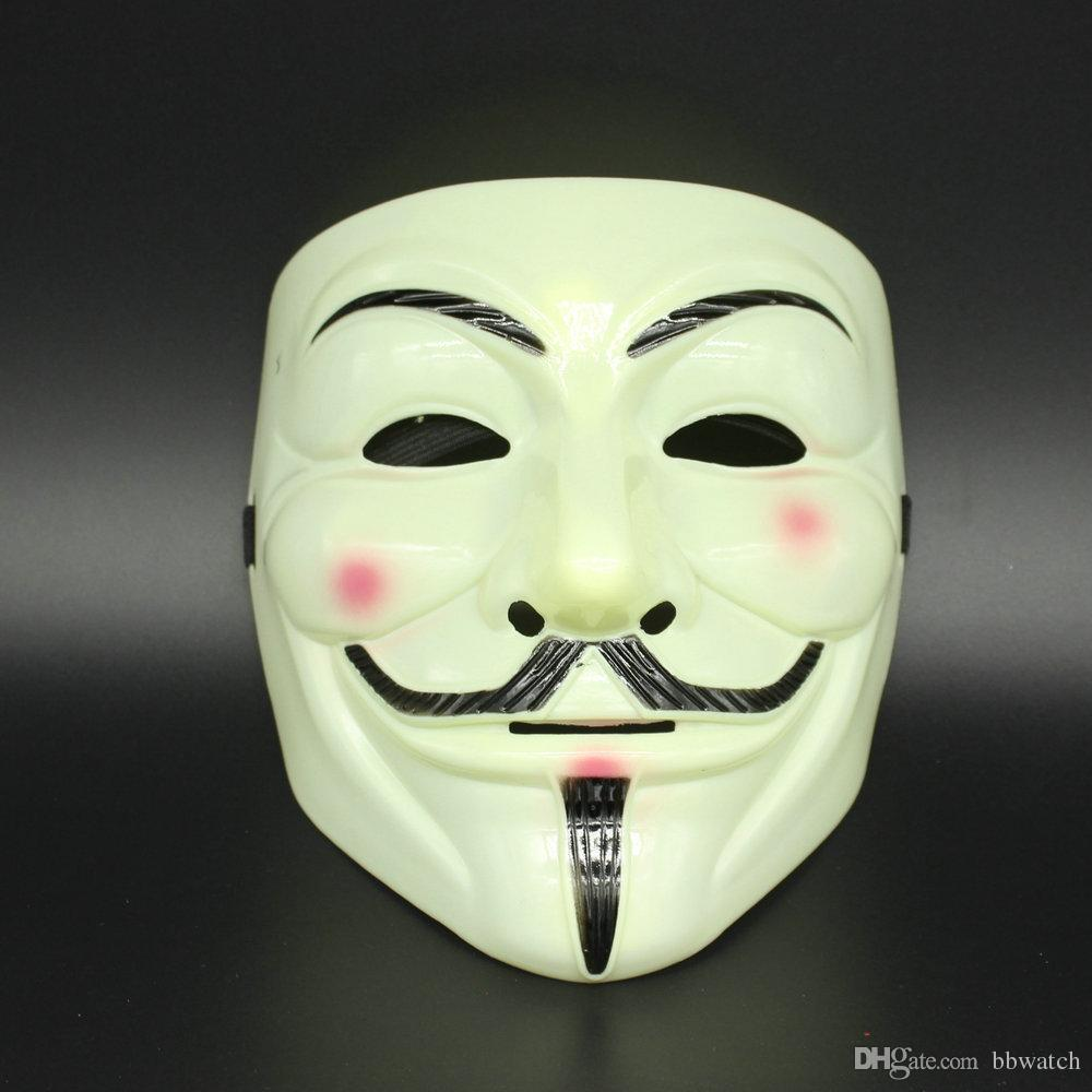Hot Vendetta Mask New Halloween Plastic Anymous Mask Of Guy Fawkes ...