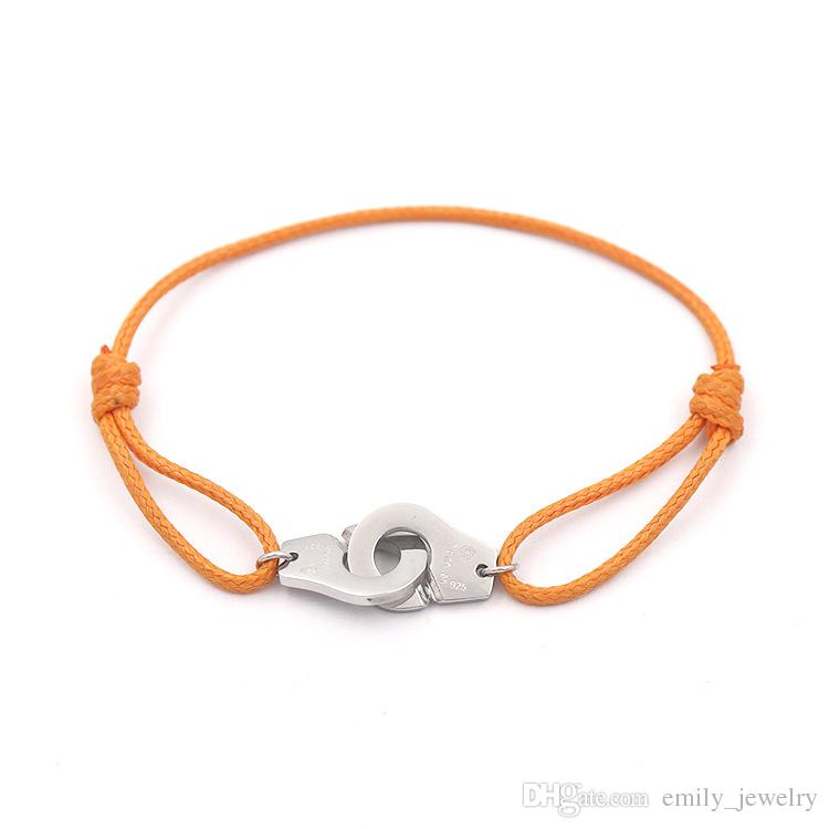 titanium steel Vintage Charm Bracelets & Bangles For Women Men hand cuff Rope Bangle Silver colors Bracelet femme Vikings fashion jewelry
