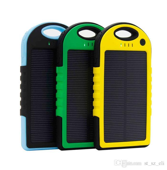 5000mah/12000mah waterproof shockproof dustproof solar chargers Solar battery charger power bank mah 2-port charger for mobile phone Tablet
