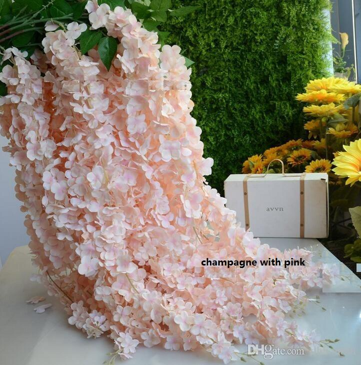 Wedding Party Backdrop Decoration White Artificial Hanging Wisteria Silk Flowers Vines decorative flowers Handmade Artificial Flower