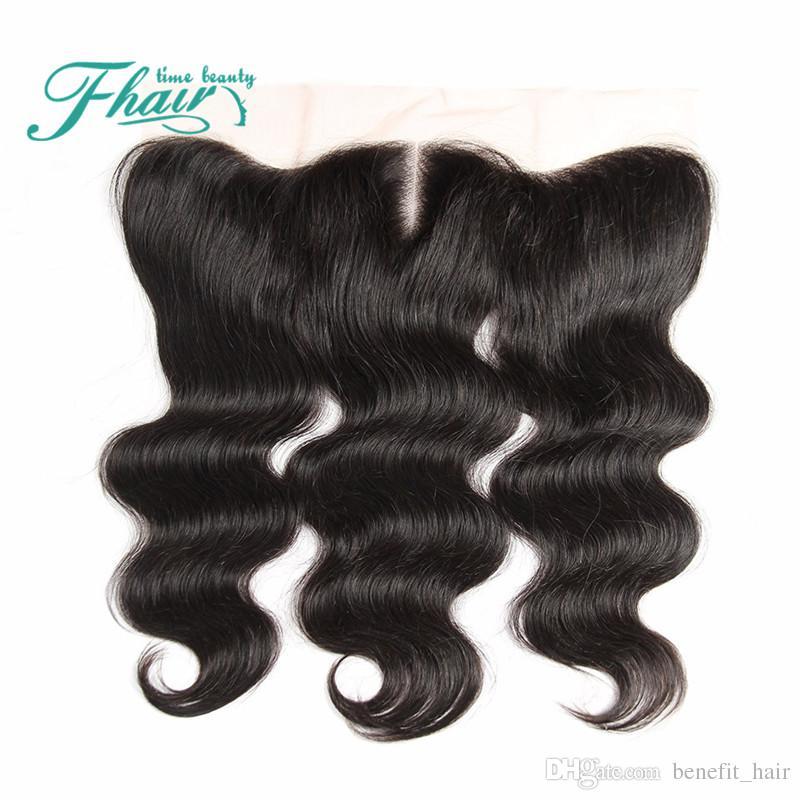 9A Cierre frontal de encaje europeo con paquetes 100% Sin procesar Tejido de cabello humano con encaje frontal 13X4 8