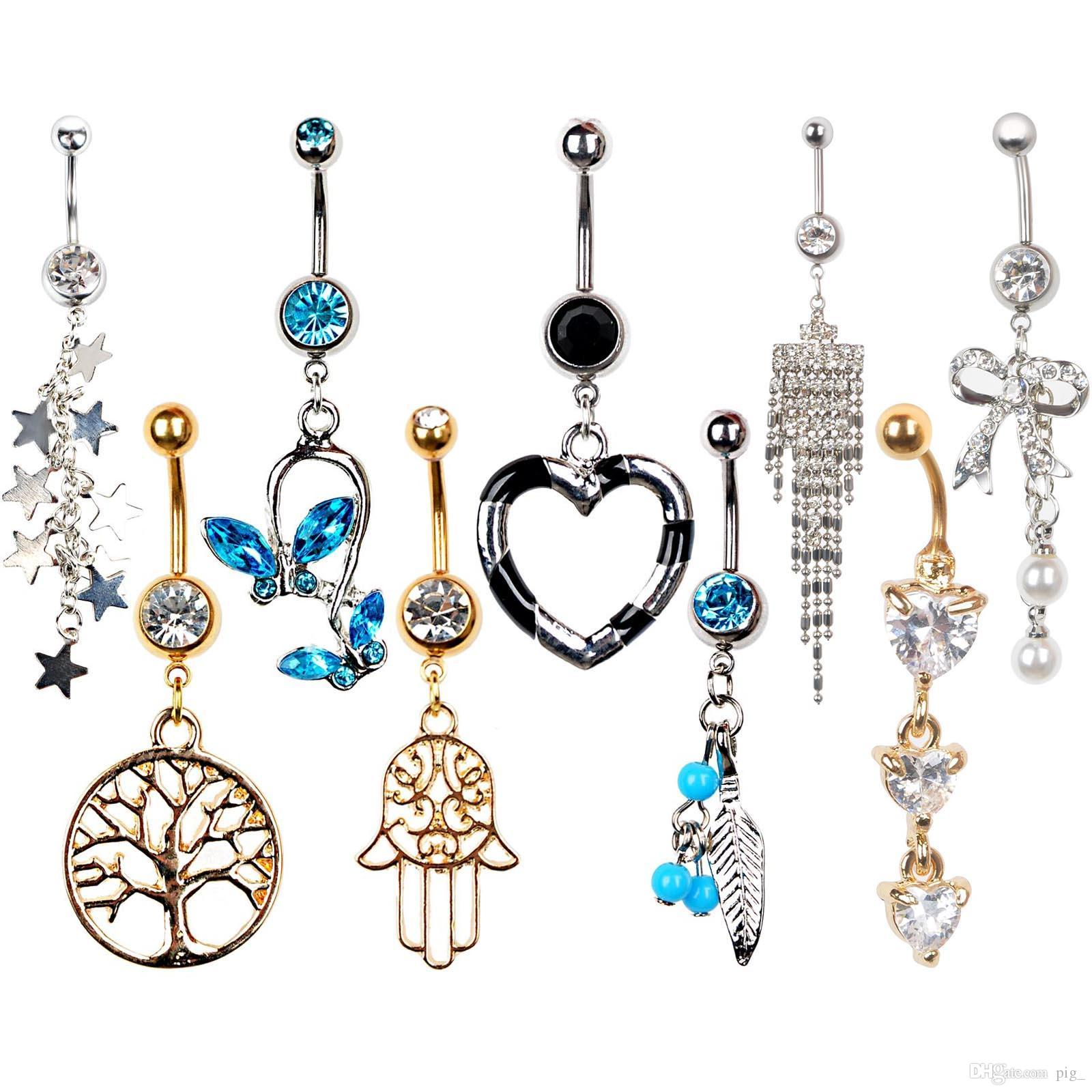 naval bling gem piercing body belly bar button navel hugerect luulla crystal rings product on