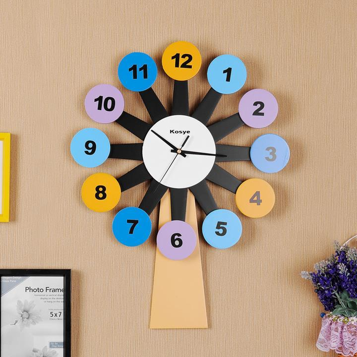 20 Inch Creative Windmill Mute Wall Clock Modern Design Living Room/Children  Bedroom Horloge Murale Large Decorative Wall Clocks Large Number Wall Clock  ...