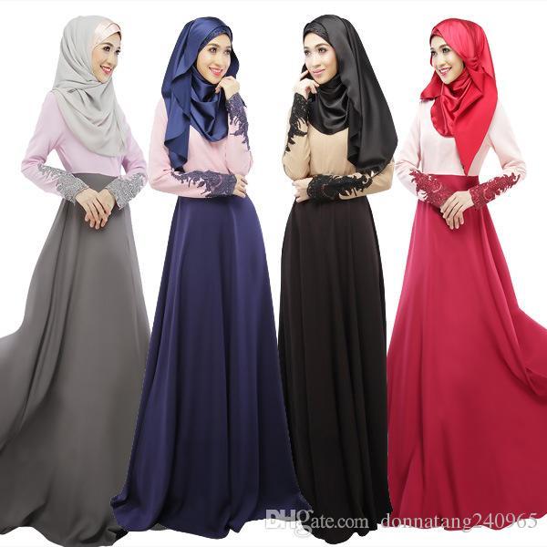 063faf8ca7 Compre Mujeres Abaya Ropa Turca Vestimenta Musulmana Islámica Jilbabs Y Abayas  Musulmane Vestidos Longos Pavo Hijab Ropa Dubai Kaftan Longo Giyim A  20.8  ...