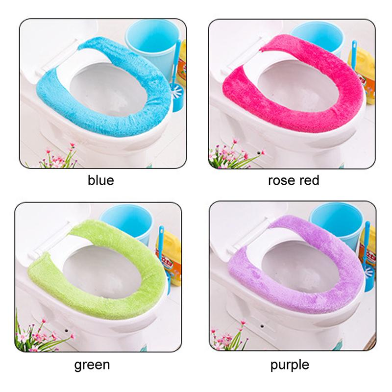 large toilet seat lid covers. 2018 95cm Pure Color Wool Type Warm Plush Toilet Seat Cover Pad  Bathroom Lid Closestool From Efit 2 02 Dhgate Com